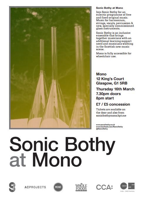 Sonic Bothy at Mono – Thursday 16th March 2017